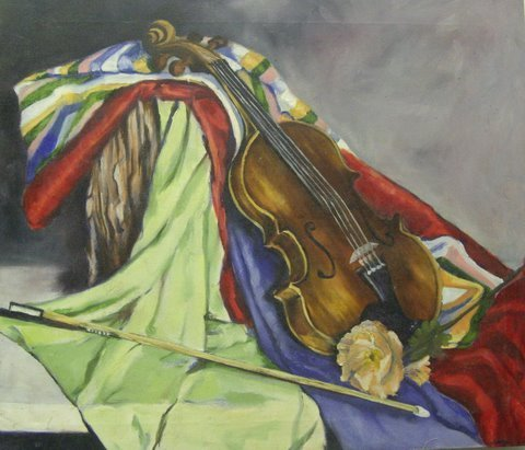 Prophetic Art by Jennifer Koch, The Violin and the Mantle